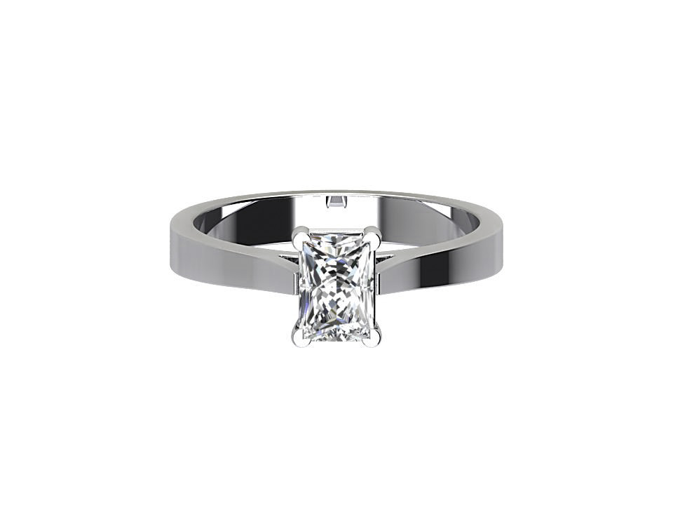 CSR009 Radiant Cut Diamond Engagement Ring