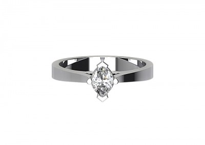 CSR008 Marquise Solitaire Engagement Ring