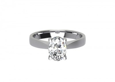 CSR007 Oval Solitaire Engagement Ring