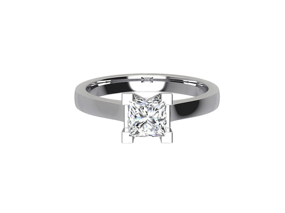 CSR005 Solitaire Princess Cut Engagement Ring