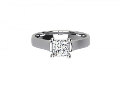 CSR004 Platinum Solitaire Engagement Ring