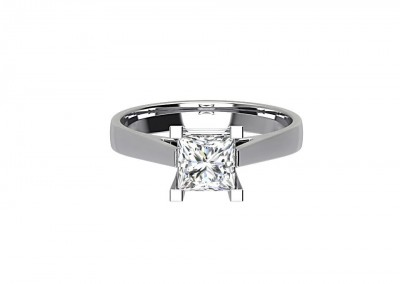 CSR003 Princess Cut Solitaire Engagement Ring