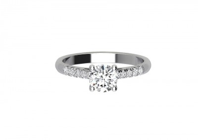 CSM001 Classic Pave Set Engagement Ring