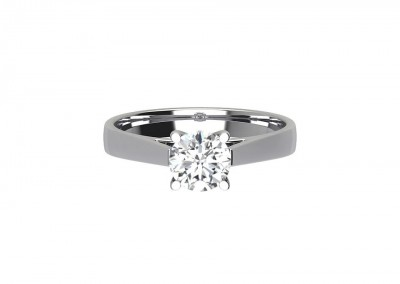 CSR002 Round Solitaire Diamond Engagement Ring