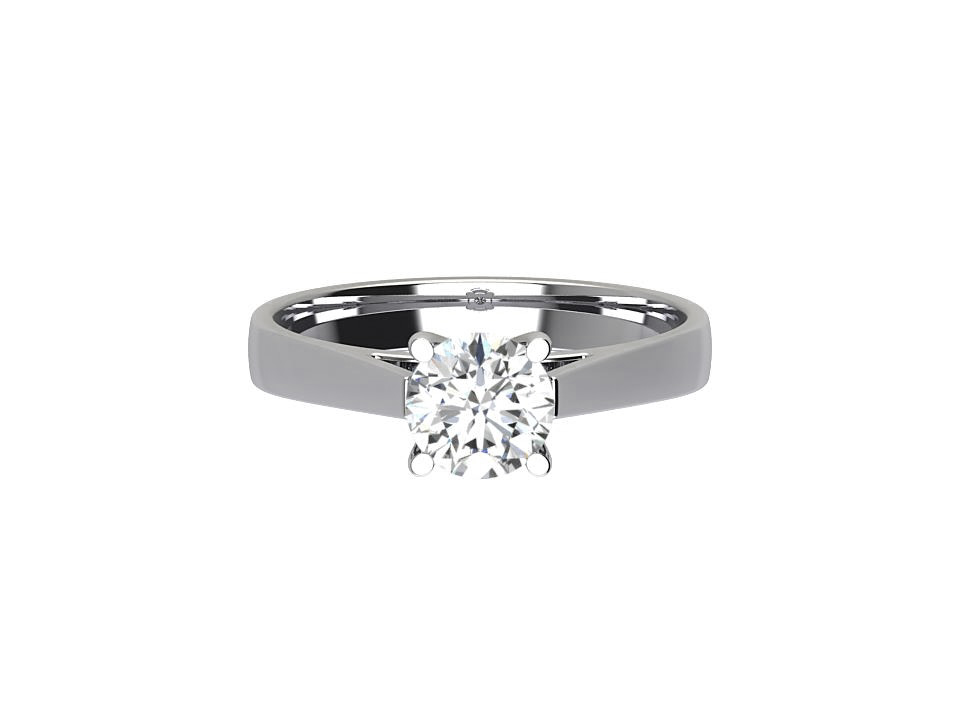 1 carat round brilliant diamond solitaire engagement ring in platinum #23