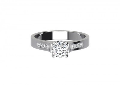 CSR008 Channel Set Engagement Ring