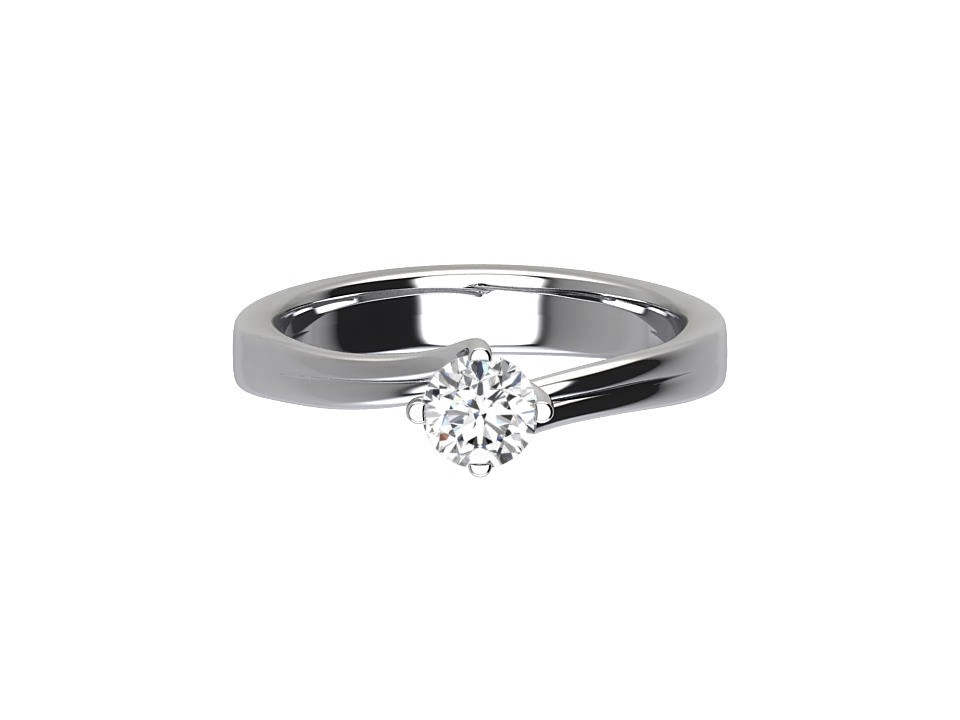 .25 carat round brilliant solitaire with 4 claw twist setting in18 carat white gold  #29