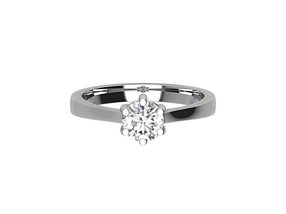 .50 carat 6 claw diamond solitaire engagement ring with tapered egde in platinum #28