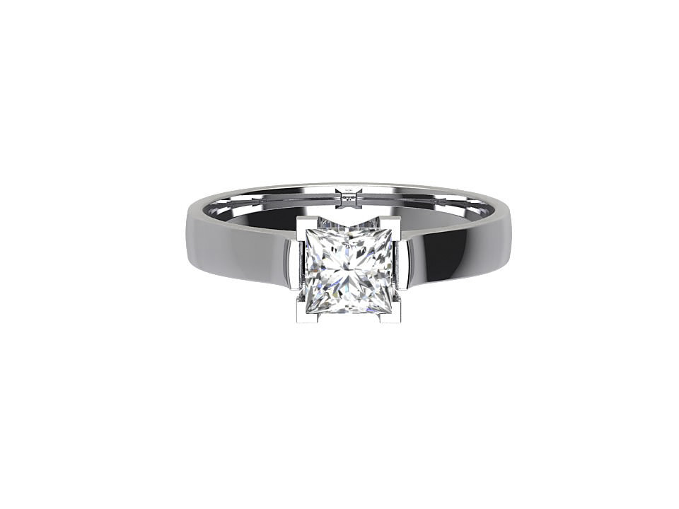 .50 carat princess cut diamond solitaire engagement ring in platinum  #1