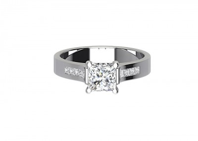 CSR009 Princess Cut Engagement Ring