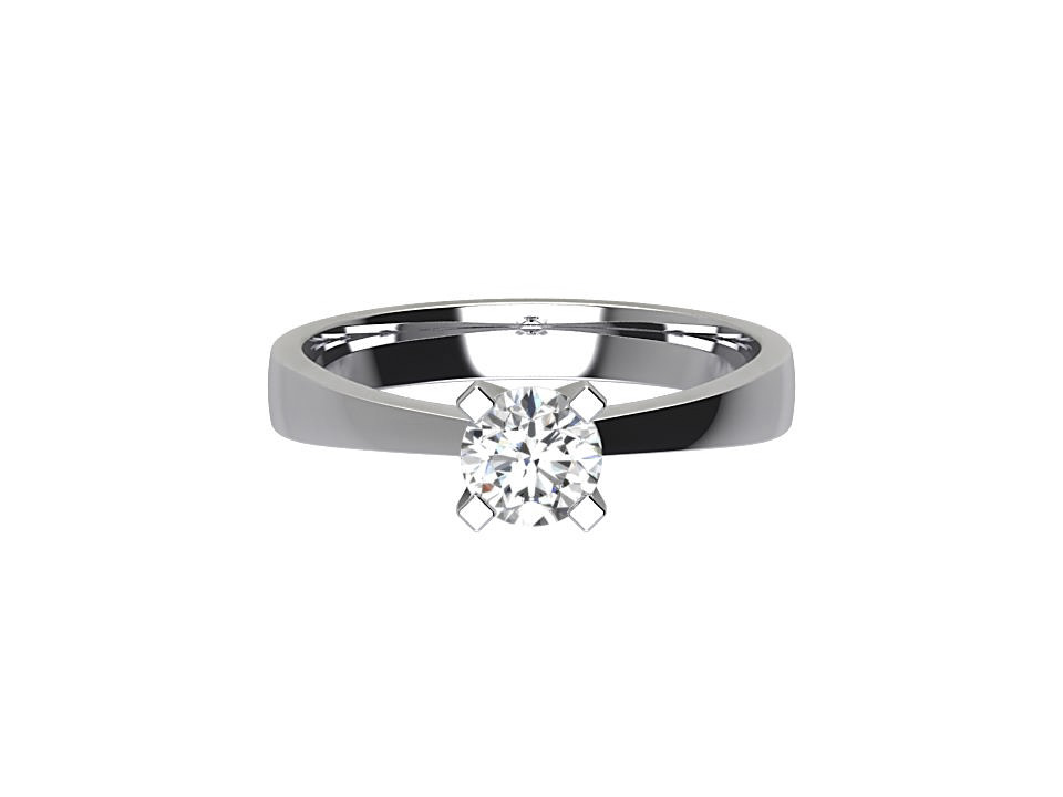 .50 carat round brilliant diamond engagement ring with tapered edge in platinum #35