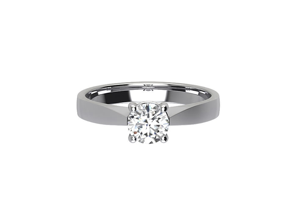 .50 carat round brilliant diamond  solitaire engagement ring with tapered chamfered edge in 18 carat white gold #20