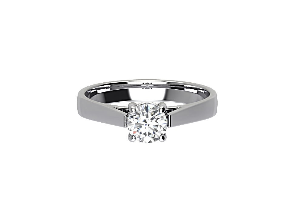 .50 carat round brilliant diamond solitaire engagement ring with tapered shoulder in platinum #17