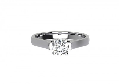 CSR021 1.00ct Round Bezel Set Engagement Ring
