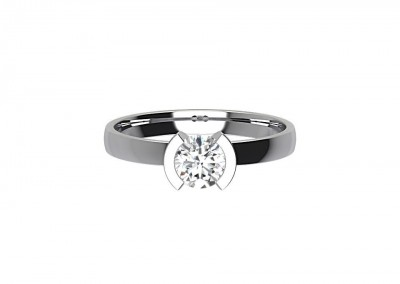 CSR020 .80ct Round Solitaire Engagement Ring