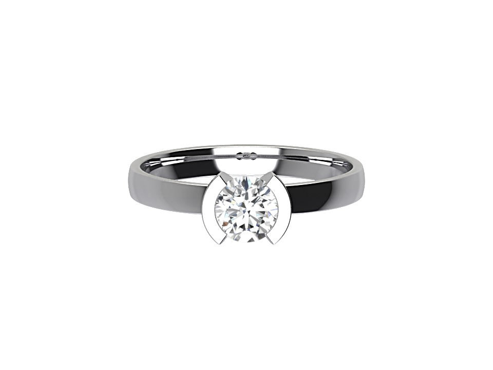 70 carat round brilliant diamond solitaire engagement ring with bezel style setting in platinum #21
