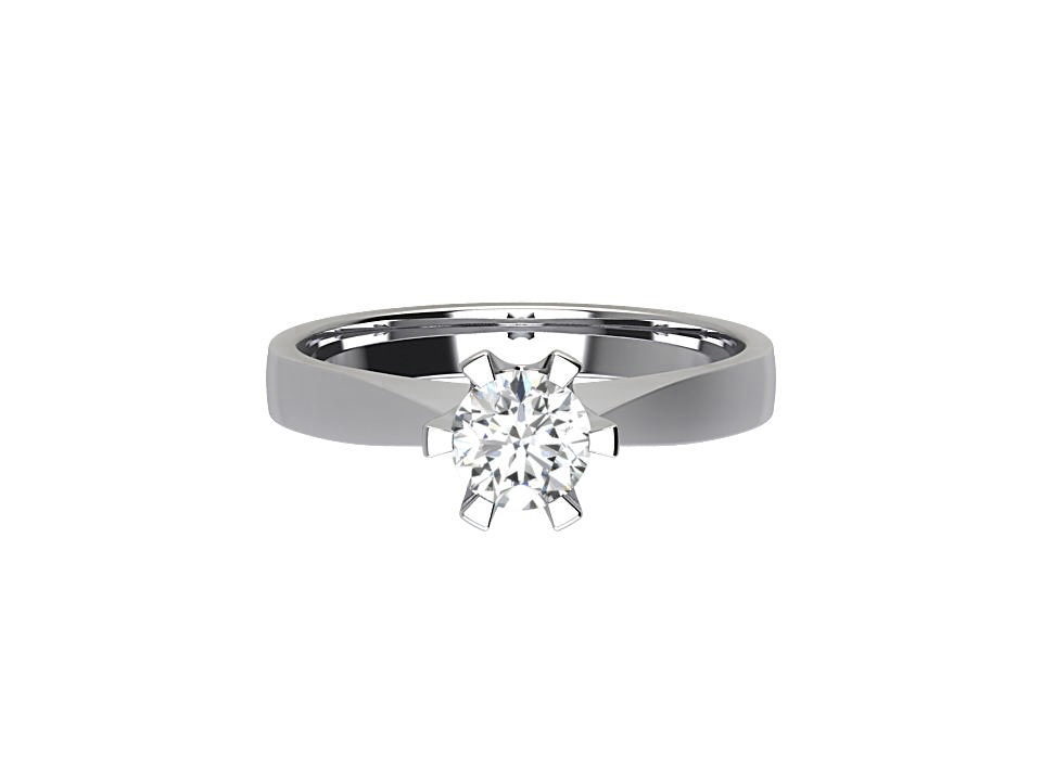 CSR019 1.00ct Round Solitaire Engagement Ring