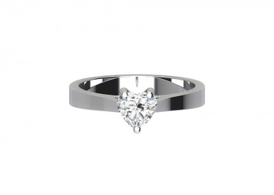 CSR018 .75ct Heart Solitaire Engagement Ring