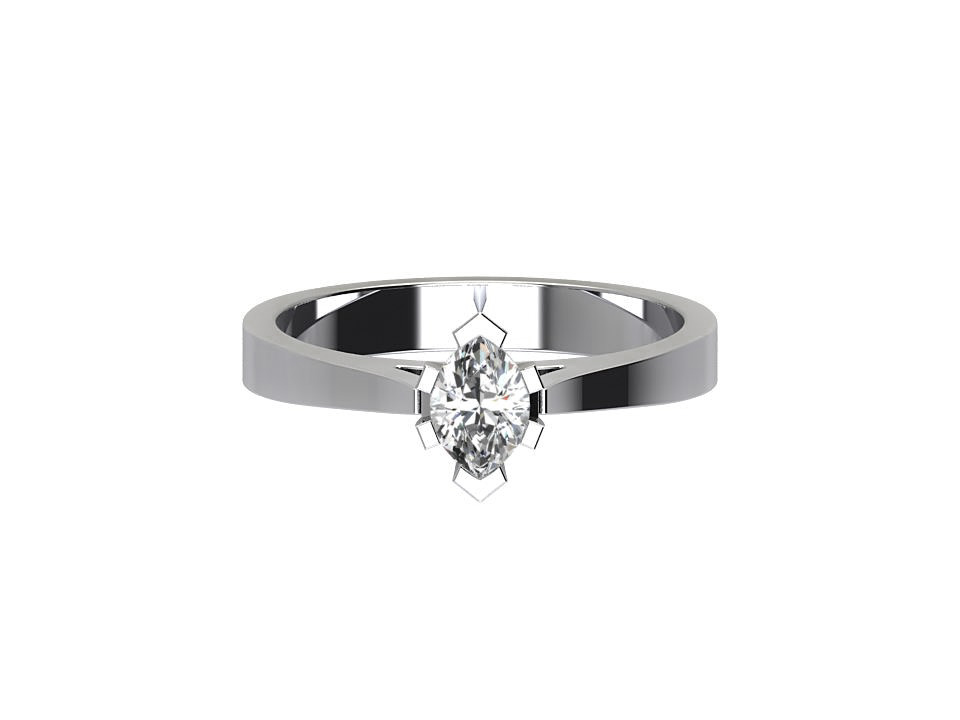 CSR017 1.00ct Marquise Halo Engagement Ring