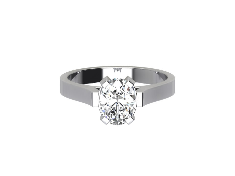 CSR016 0.70ct Oval Diamond Engagement Ring