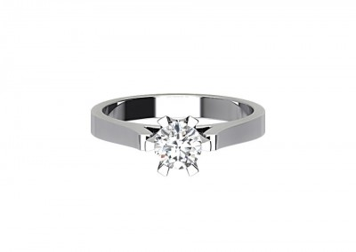 CSR015 0.43 Round Solitaire Engagement Ring