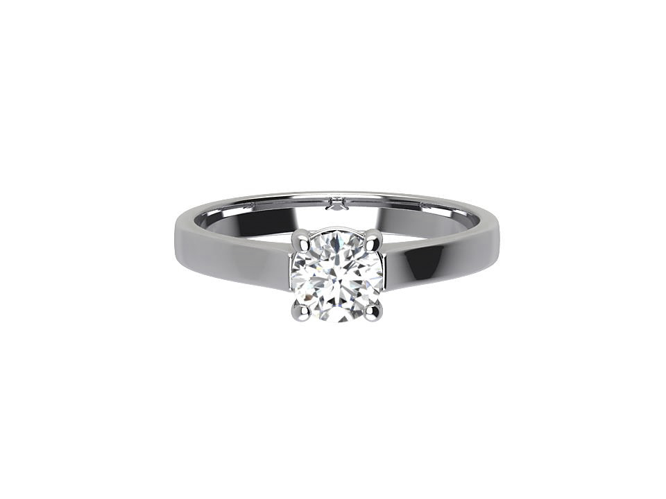 CRS014 .80ct Round Solitaire Engagement Ring