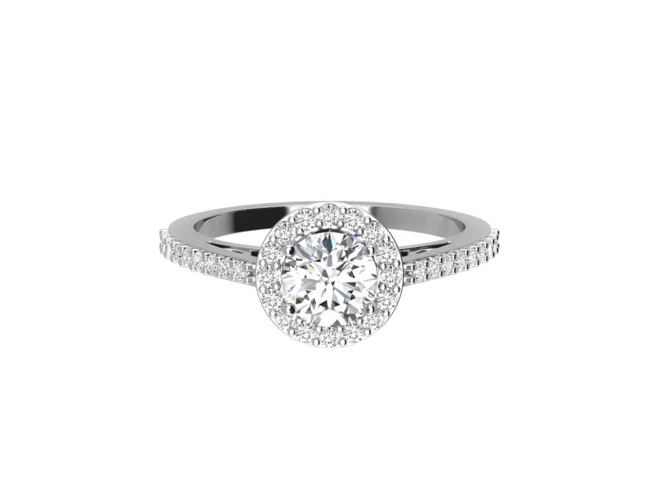 75 carat round brilliant vintage diamond engagement ring with gallery detail bezel in 18 carat white gold #4