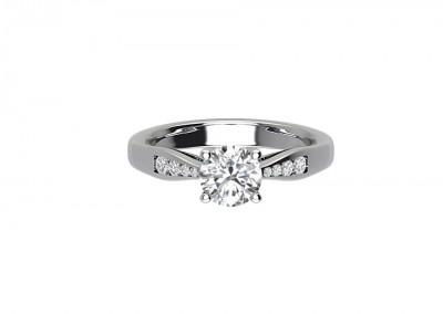 CSM004 Offset Diamond Engagement Ring