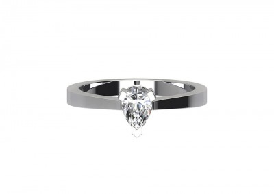 CSR013 0.70ct Pear Solitaire Diamond Ring CSR013