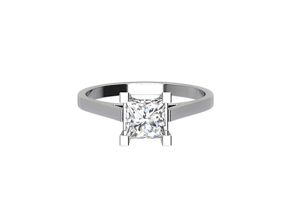 .80 carat princess cut diamond solitaire engagement ring in 18 carat white gold #6
