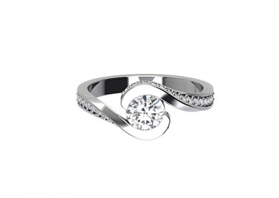 CSM003 Solitaire Twist Engagment Ring