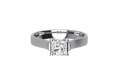 CSR011 .60ct Princess Cut Solitaire Engagement Ring