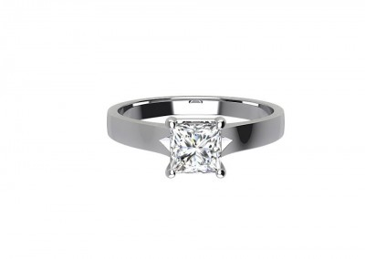 CSR010 1.3ct Princess Cut Solitaire Engagement Ring