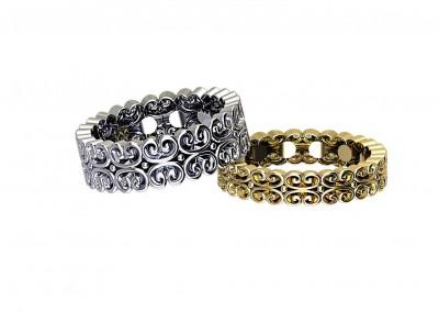 DWSR005 Art Deco Style Wedding Rings