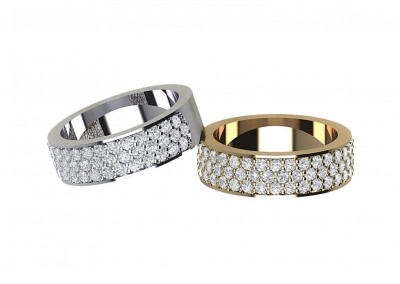 ETR011 Triple Row Diamond Eternity Ring