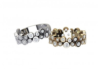 ETR016 Bezel Set Art Deco Diamond Eternity Ring