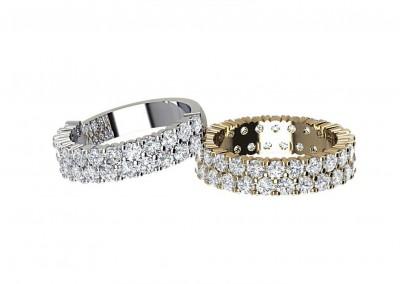 ETR015 Double Row Diamond Eternity Ring