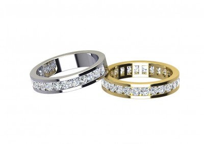 DWR02 5mm Channel Set Diamond Wedding Ring