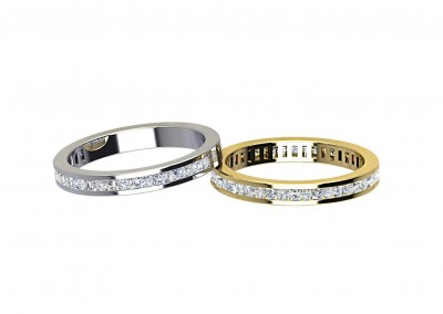 DWR001 Channel Set Diamond Wedding Ring