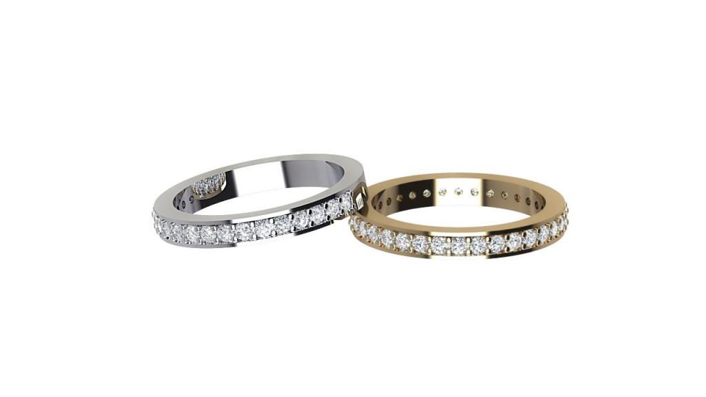 ETR010 Round Diamond Channel Set Eternity Ring