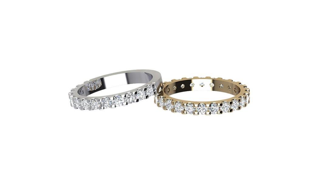 ETR009 Full/Half Diamond Eternity Ring