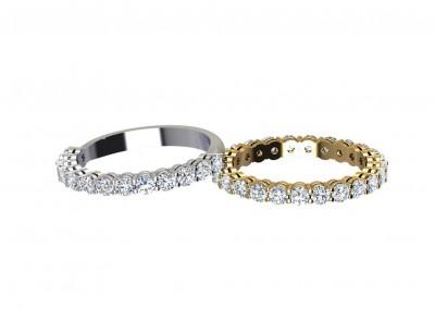 DWR003 Claw set Diamond Wedding Ring