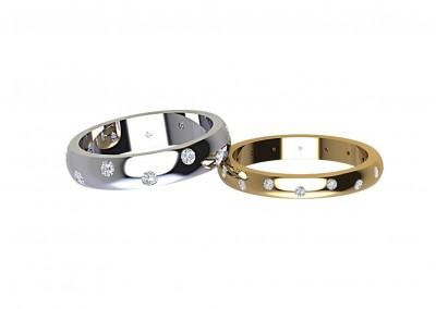 DWR006 Varied Diamond Wedding Ring