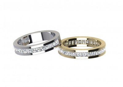ETR006 Princess Channel Set Diamond Eternity Ring