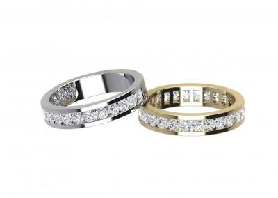 ETR003 Diamond Channel Set Eternity Ring