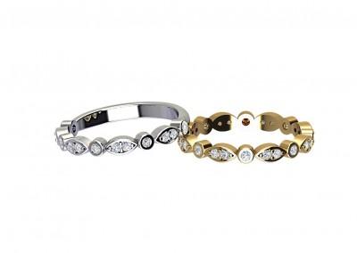 DWR015 Art Deco Diamond Wedding Ring