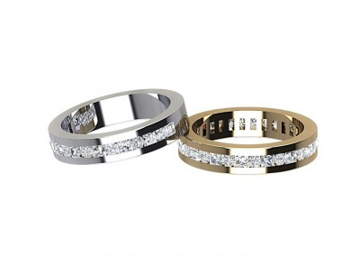 ETR004 Round Cut Diamond Eternity Ring