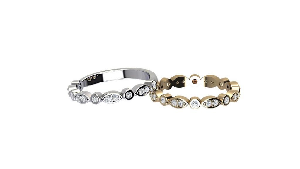 ETR005 Art Deco Bezel Set Diamond Eternity Ring